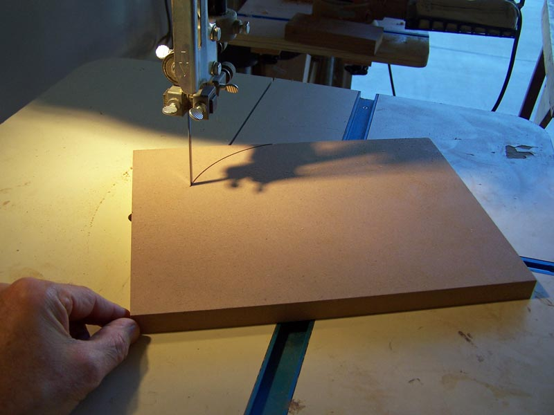 Cutting a disk of MDF