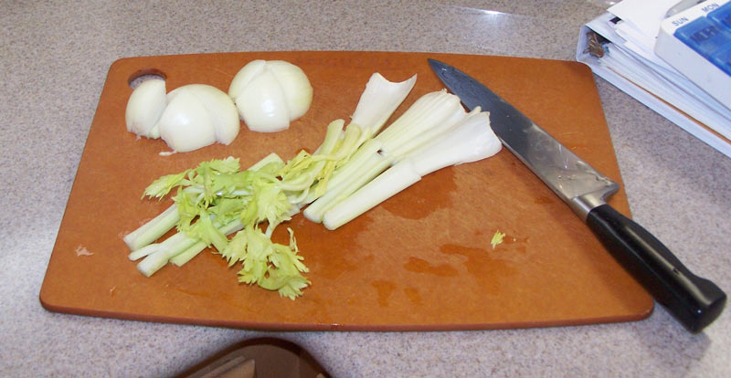 Ingredients for cooking the chicken